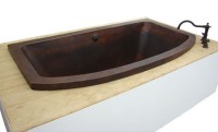 Drop-in Soaker Copper Tub Item: TCS7432
