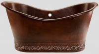 Double Slipper Soaker Copper Tub Item: TCS7431