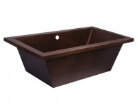 Drop-in Soaker Copper Tub Item: TCS7433